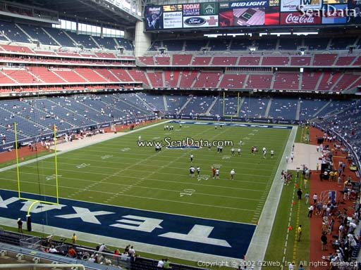 Seat view from section 321 at NRG Stadium, home of the Houston Texans