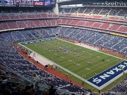 Seat view from section 602 at NRG Stadium, home of the Houston Texans