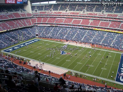 Seat view from section 605 at NRG Stadium, home of the Houston Texans