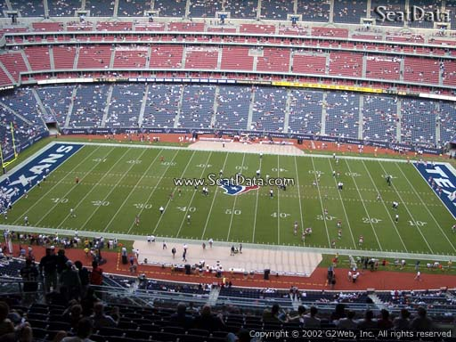 Seat view from section 608 at NRG Stadium, home of the Houston Texans