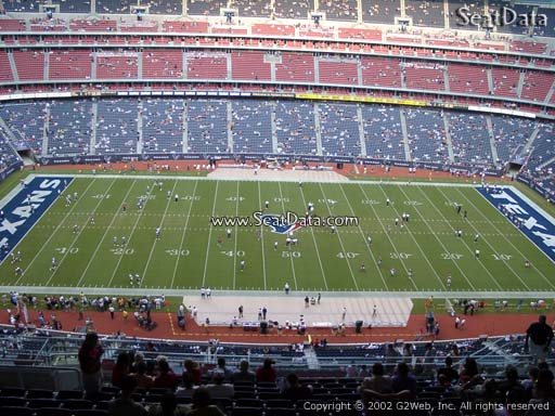 Seat view from section 609 at NRG Stadium, home of the Houston Texans