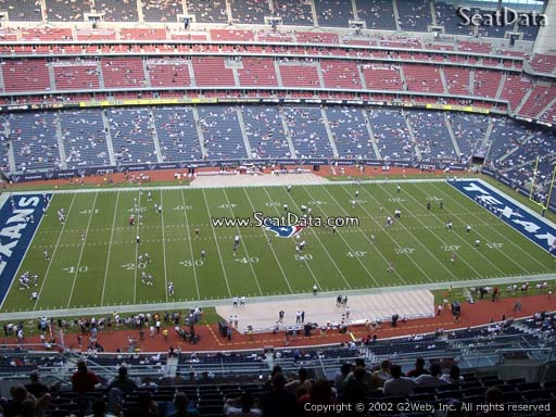 Seat view from section 610 at NRG Stadium, home of the Houston Texans