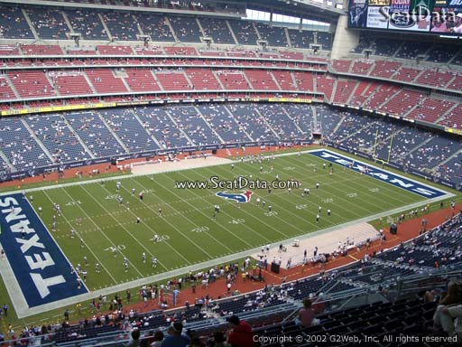 Seat view from section 613 at NRG Stadium, home of the Houston Texans