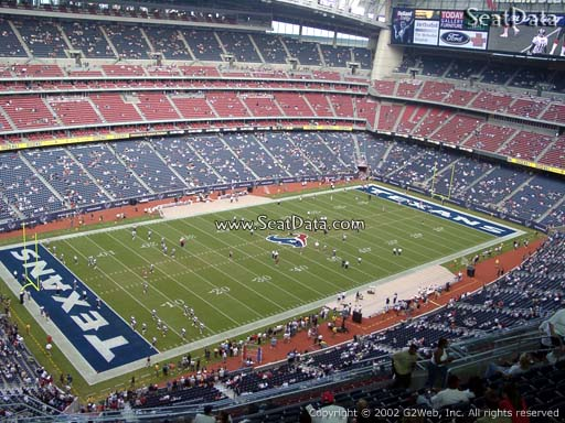 Seat view from section 614 at NRG Stadium, home of the Houston Texans