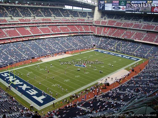 Seat view from section 615 at NRG Stadium, home of the Houston Texans