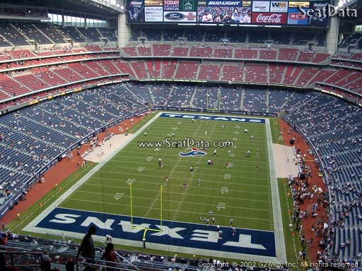 Seat view from section 620 at NRG Stadium, home of the Houston Texans