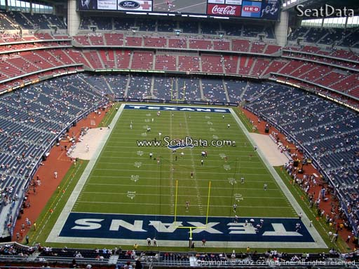 Seat view from section 622 at NRG Stadium, home of the Houston Texans