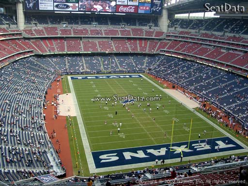 Seat view from section 624 at NRG Stadium, home of the Houston Texans