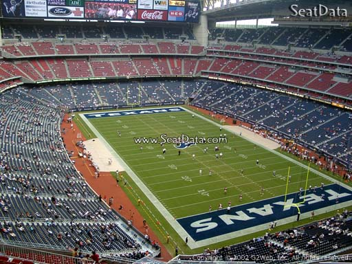 Seat view from section 626 at NRG Stadium, home of the Houston Texans
