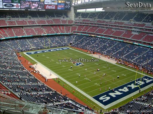 Seat view from section 627 at NRG Stadium, home of the Houston Texans
