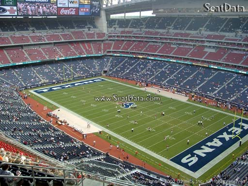 Seat view from section 528 at NRG Stadium, home of the Houston Texans