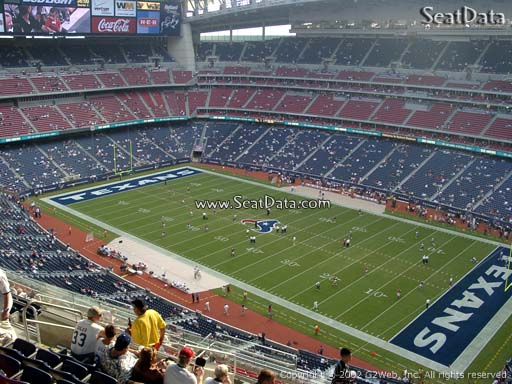 Seat view from section 629 at NRG Stadium, home of the Houston Texans