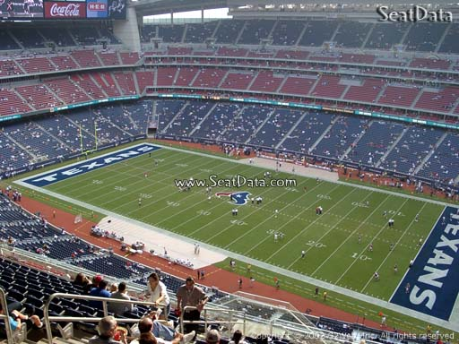Seat view from section 530 at NRG Stadium, home of the Houston Texans