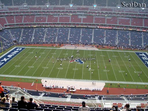Seat view from section 534 at NRG Stadium, home of the Houston Texans