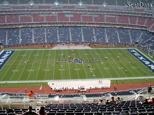 Seat view from section 535 at NRG Stadium, home of the Houston Texans
