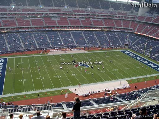 Seat view from section 537 at NRG Stadium, home of the Houston Texans