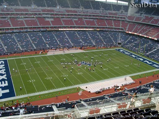 Seat view from section 538 at NRG Stadium, home of the Houston Texans