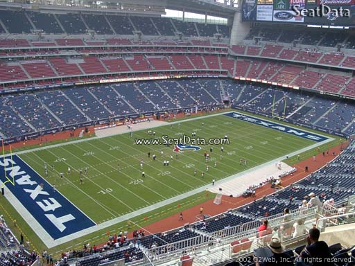 Seat view from section 540 at NRG Stadium, home of the Houston Texans