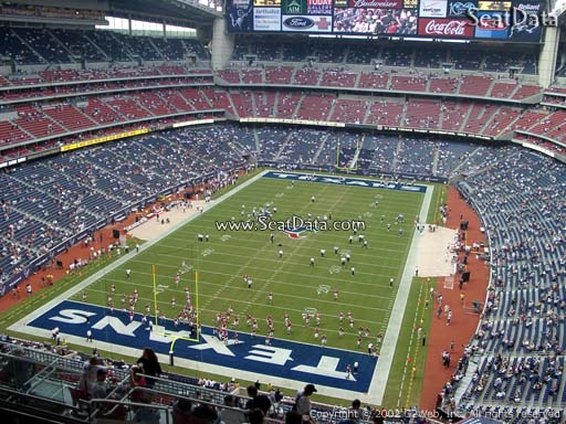 Seat view from section 545 at NRG Stadium, home of the Houston Texans