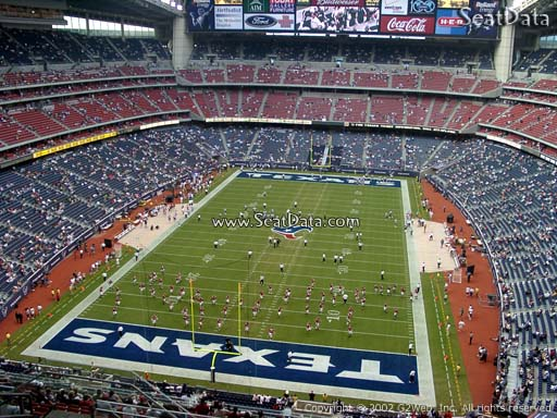Seat view from section 646 at NRG Stadium, home of the Houston Texans