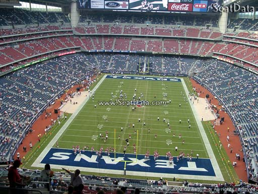Seat view from section 547 at NRG Stadium, home of the Houston Texans