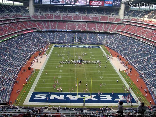 Seat view from section 648 at NRG Stadium, home of the Houston Texans