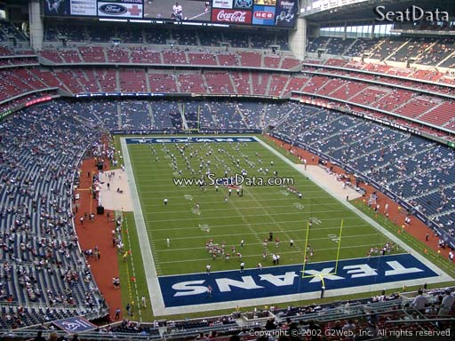 Seat view from section 650 at NRG Stadium, home of the Houston Texans
