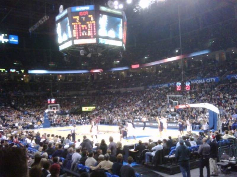 Seat view from section 103 at Chesapeake Energy Arena, home of the Oklahoma City Thunder