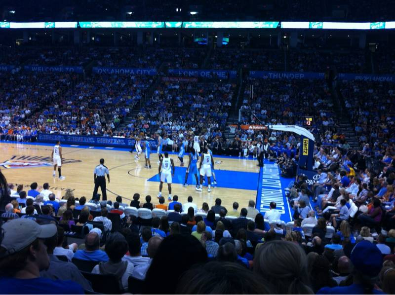 Seat view from section 104 at Chesapeake Energy Arena, home of the Oklahoma City Thunder