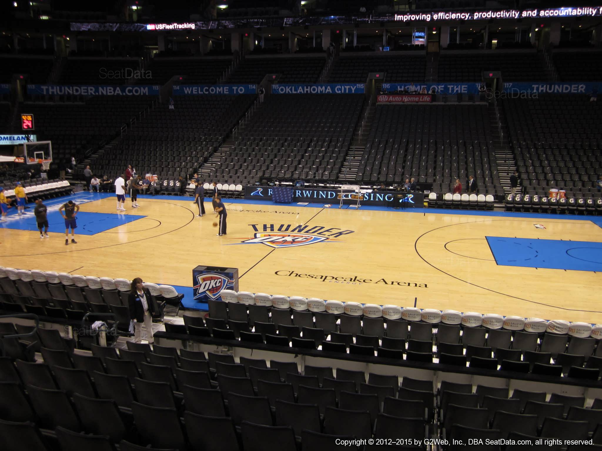 Seat view from section 105 at Chesapeake Energy Arena, home of the Oklahoma City Thunder