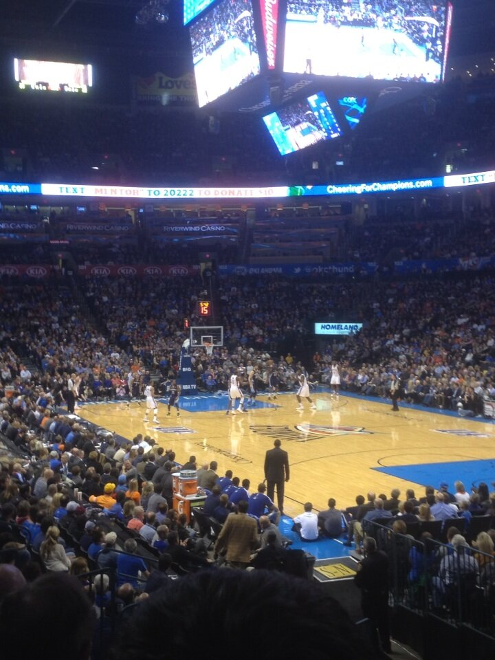 Seat view from section 112 at Chesapeake Energy Arena, home of the Oklahoma City Thunder
