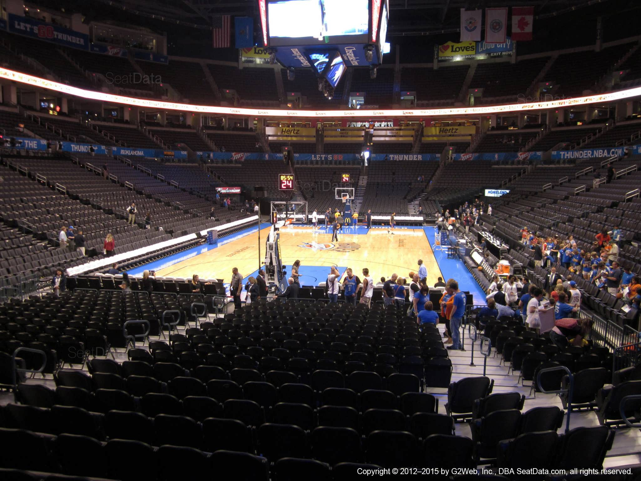 Seat view from section 120 at Chesapeake Energy Arena, home of the Oklahoma City Thunder