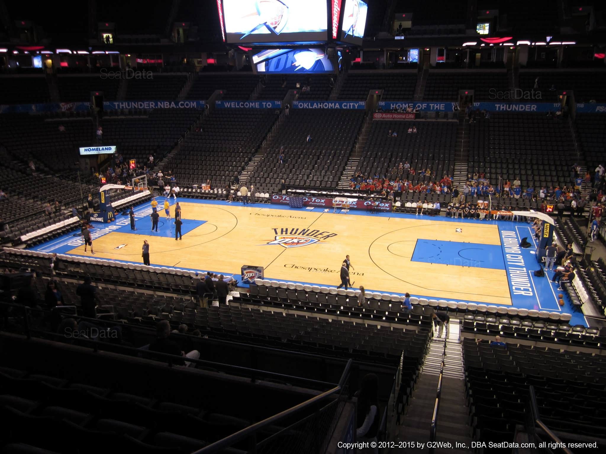 Seat view from section 207 at Chesapeake Energy Arena, home of the Oklahoma City Thunder