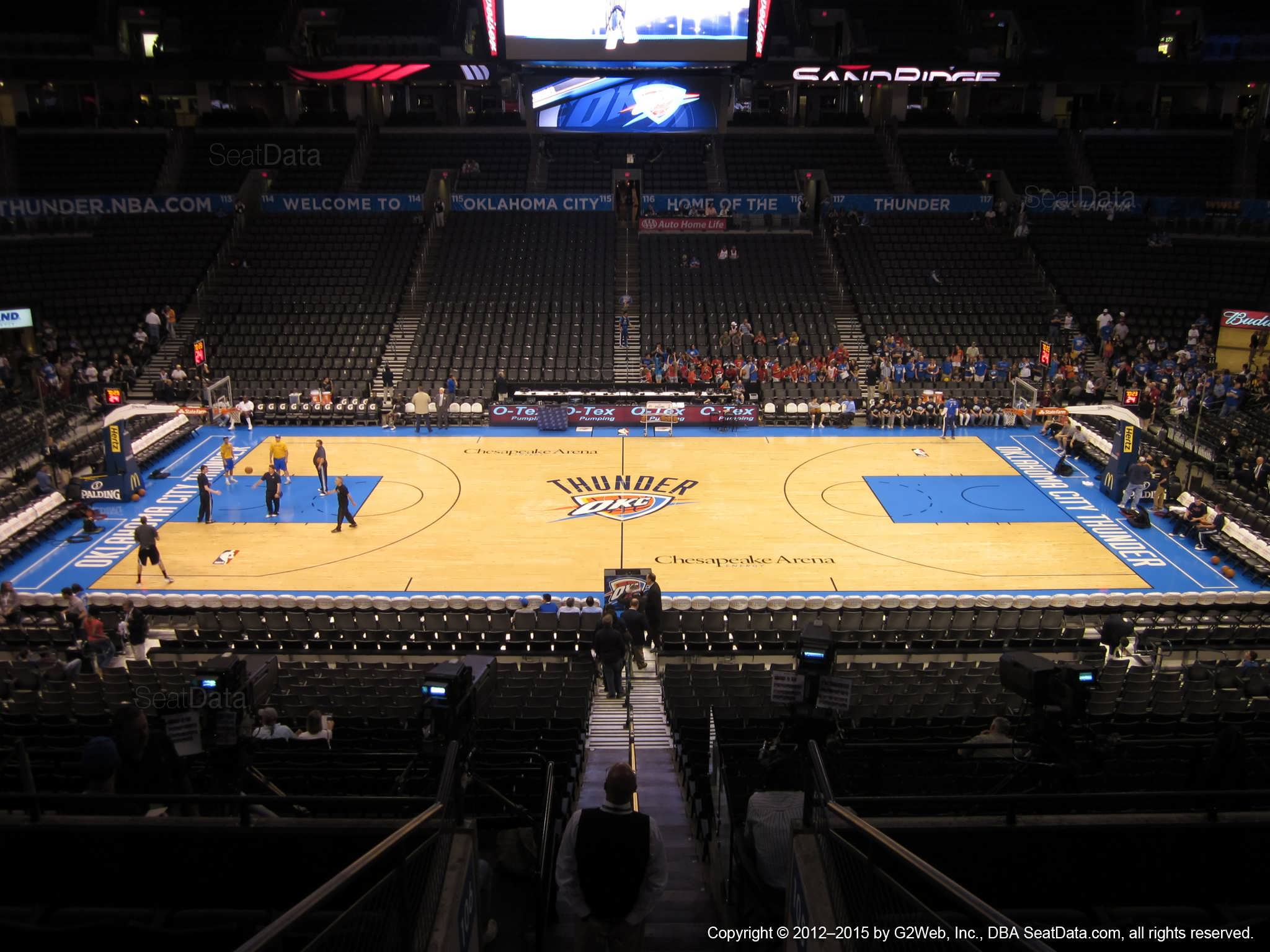 Seat view from section 208 at Chesapeake Energy Arena, home of the Oklahoma City Thunder
