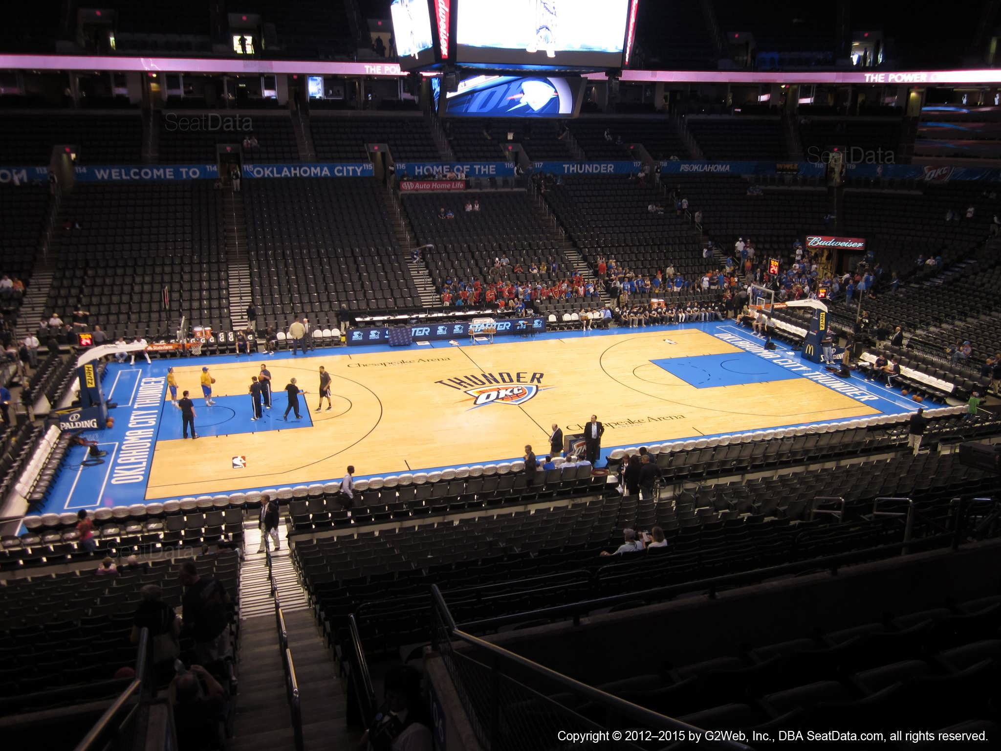 Seat view from section 209 at Chesapeake Energy Arena, home of the Oklahoma City Thunder
