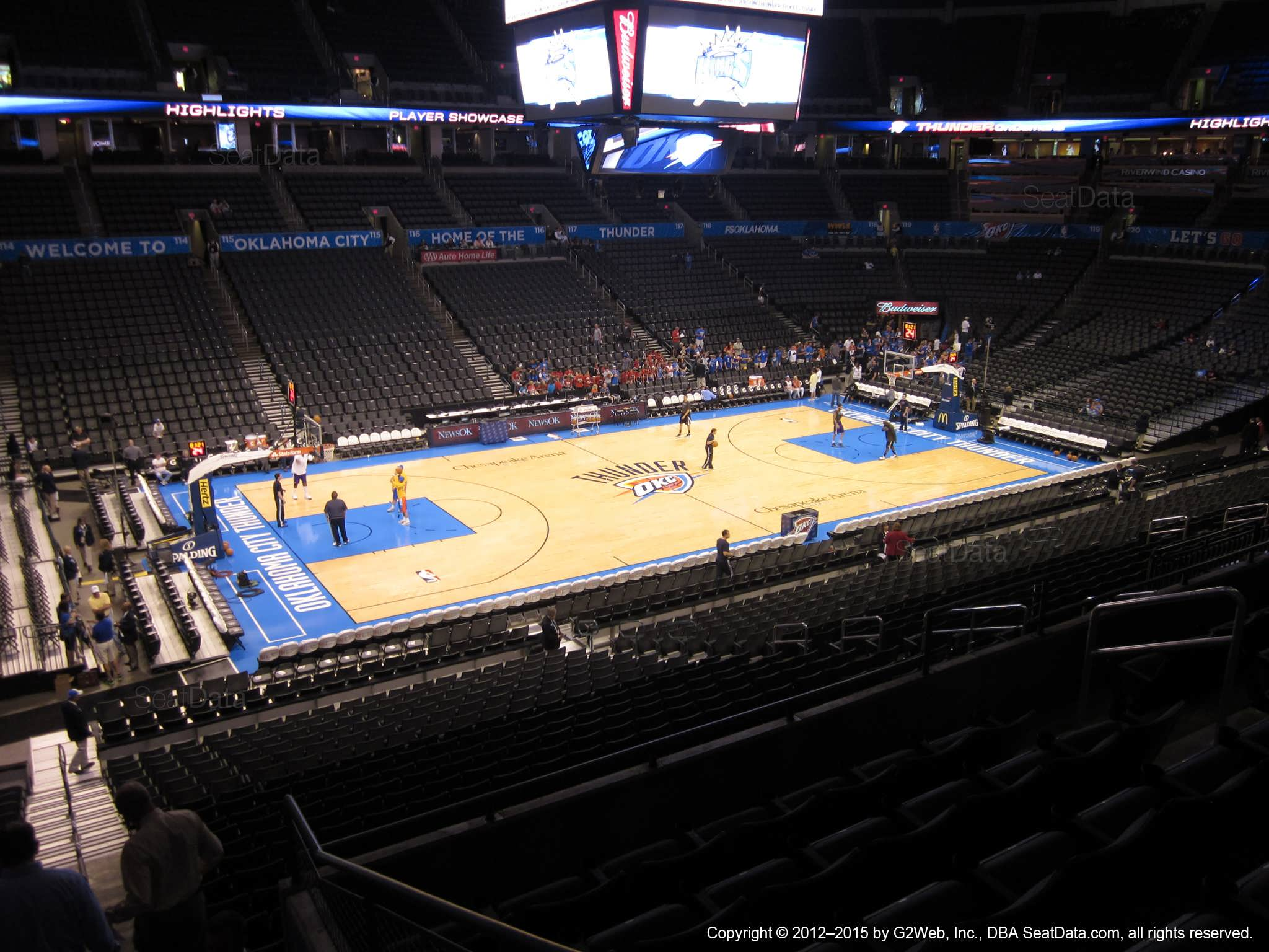 Seat view from section 210 at Chesapeake Energy Arena, home of the Oklahoma City Thunder