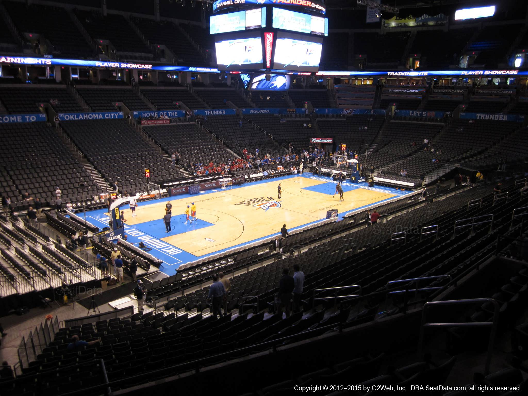 Seat view from section 211 at Chesapeake Energy Arena, home of the Oklahoma City Thunder