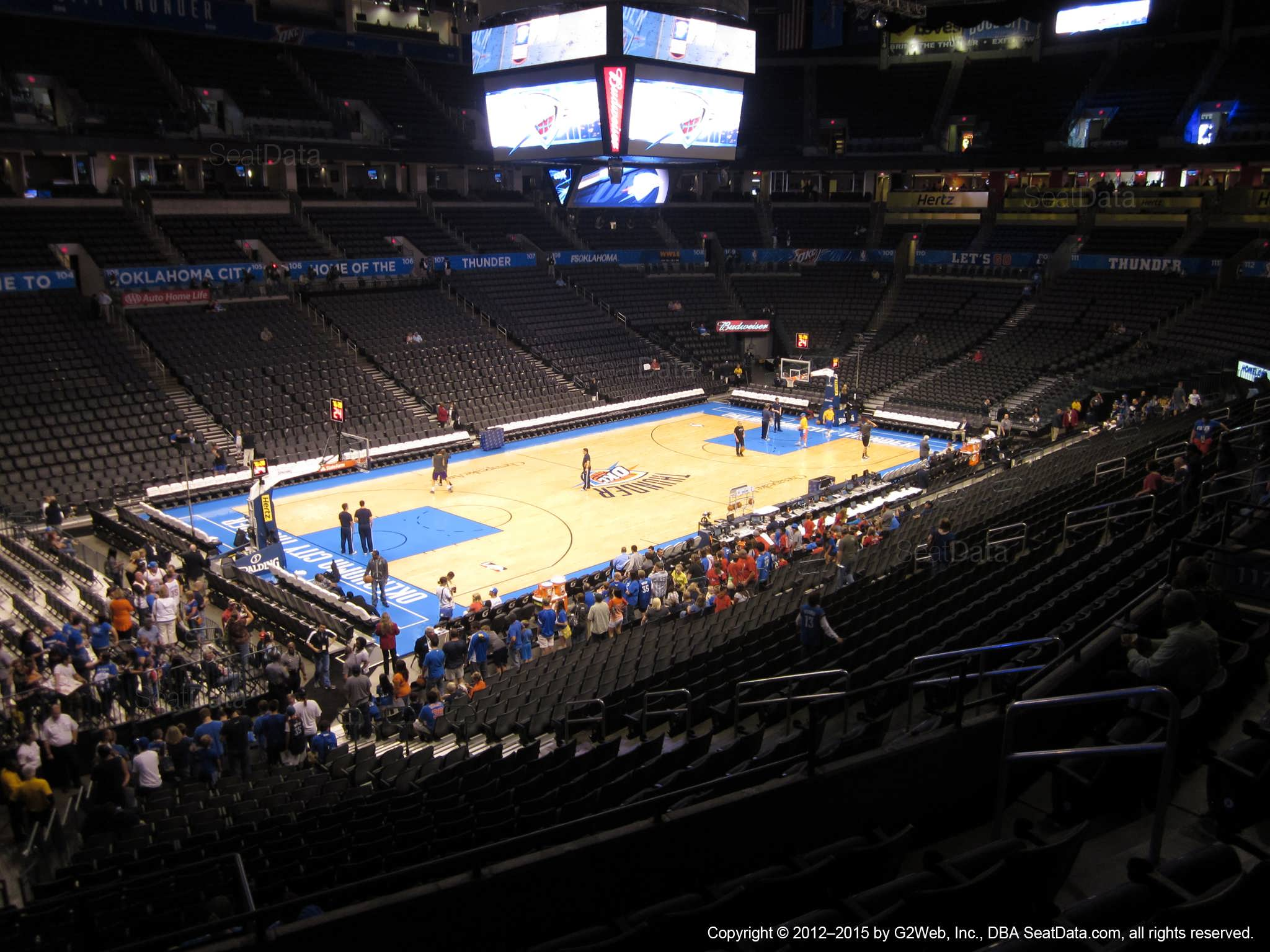 Seat view from section 226 at Chesapeake Energy Arena, home of the Oklahoma City Thunder