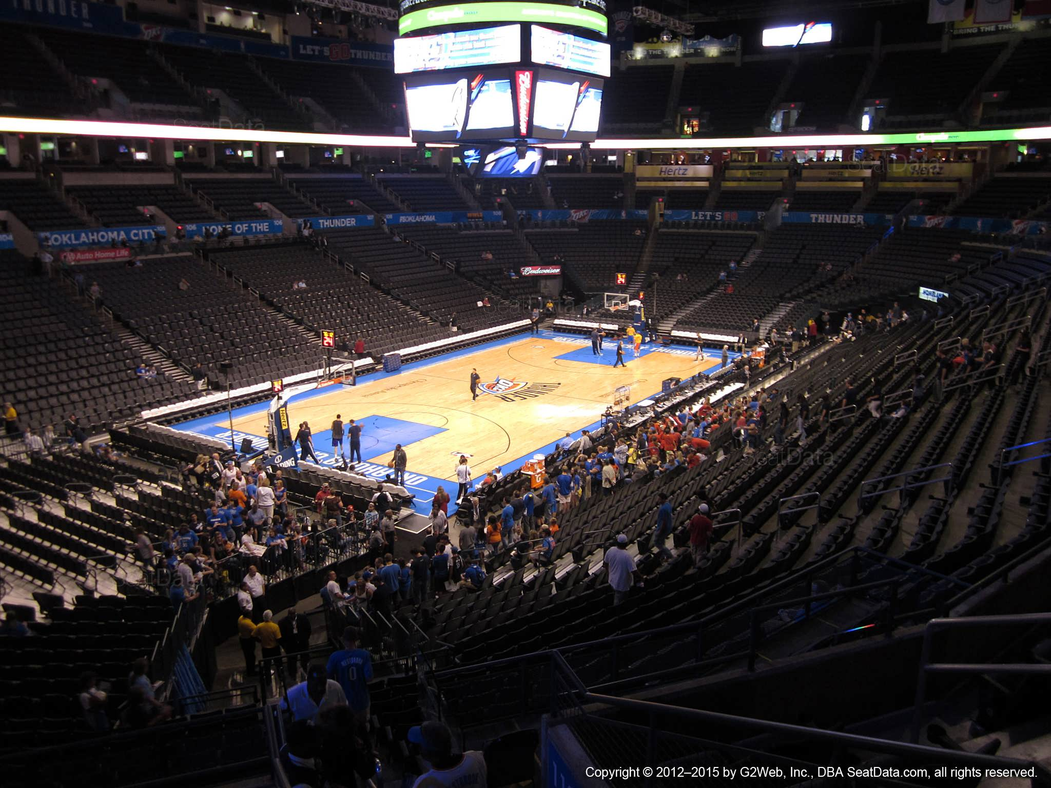 Seat view from section 227 at Chesapeake Energy Arena, home of the Oklahoma City Thunder