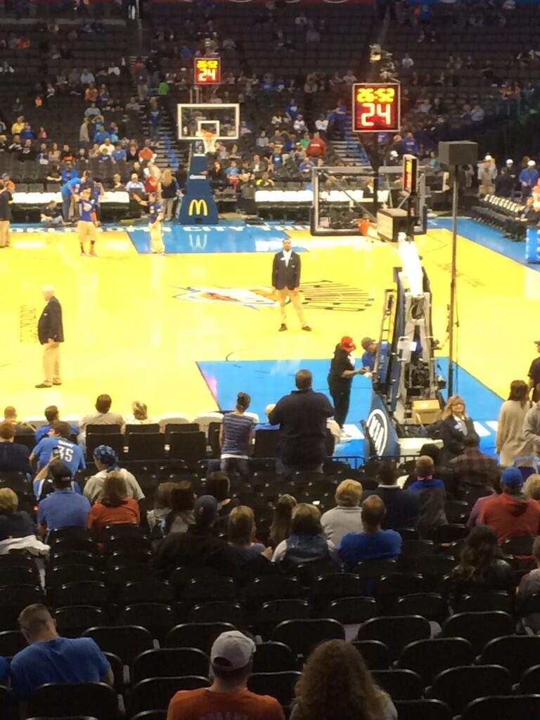 Seat view from section 101 at Chesapeake Energy Arena, home of the Oklahoma City Thunder