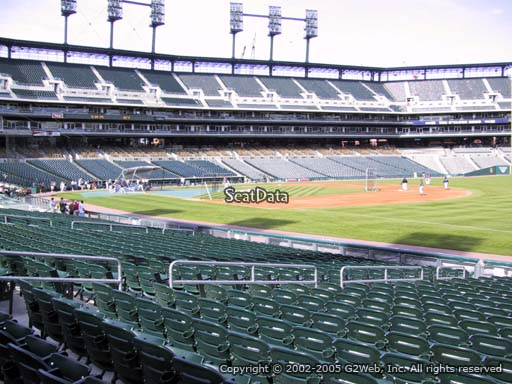 Seat view from section 116 at Comerica Park, home of the Detroit Tigers