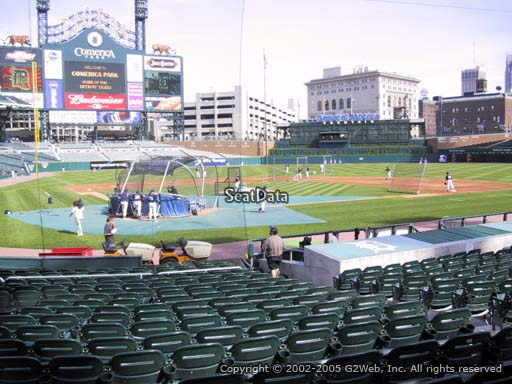 Seat view from section 125 at Comerica Park, home of the Detroit Tigers