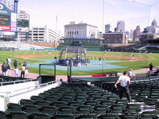 Seat view from section 127 at Comerica Park, home of the Detroit Tigers