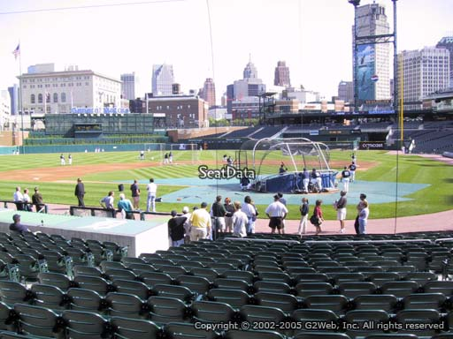 Seat view from section 130 at Comerica Park, home of the Detroit Tigers