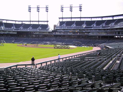 Seat view from section 142 at Comerica Park, home of the Detroit Tigers
