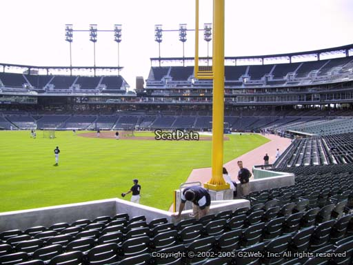 Seat view from section 144 at Comerica Park, home of the Detroit Tigers