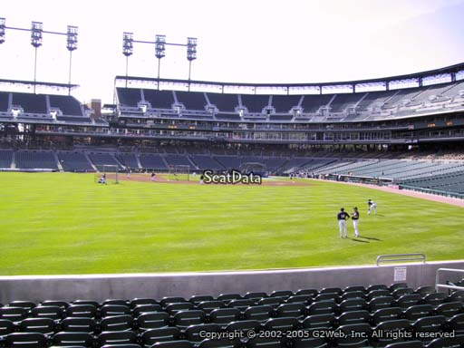 Seat view from section 149 at Comerica Park, home of the Detroit Tigers