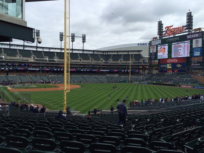 View from Kaline's Corner at Comerica Park, home of the Detroit Tigers