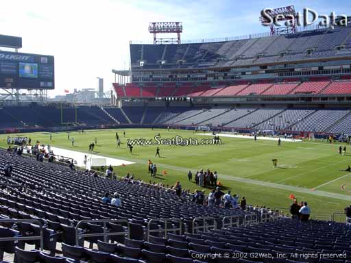 Seat view from section 107 at Nissan Stadium, home of the Tennessee Titans
