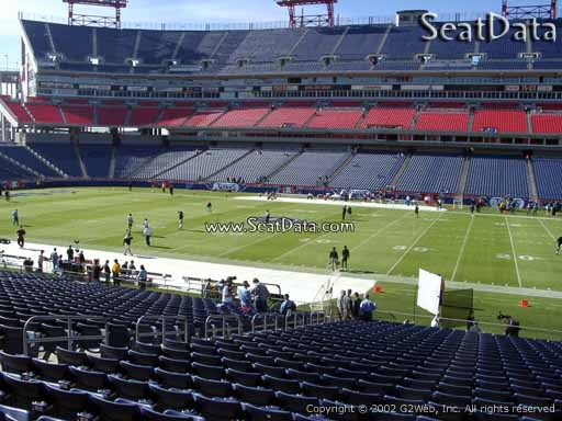 Seat view from section 110 at Nissan Stadium, home of the Tennessee Titans